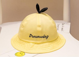 Wholesale hot girls party - yellow Children boys girls caps good quality cotton hats hot selling