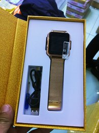 Wholesale Watch Band Packaging - Steel band Original Smart Watch S8 bluetooth Camera Wristwatch Golden Silver for Samsung Android Apple IOS Iphone Smartphone Retail Package