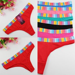 Wholesale wholesale panty roses - Dream 2017 New women's sexy G String Women cotton panties Low Waist Thongs panty briefs thong underwear women with color edge