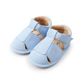 new boys sandal shoes Promo Codes - 2018 Summer ROMIRUS New Baby Boys Sandals Cute Pu Leather Barefoot Toddler Shoes Soft Infant Baby Shoes M-1812