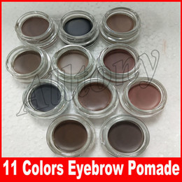Wholesale Eyebrow Hot - HOT Eyebrow pomade Cream Waterproof Makeup Eyebrow 4g Blonde Chocolate Dark Brown Ebony Auburn Medium Brown eyebrow gel 11 colors