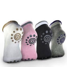 Wholesale Yoga Toe Socks Black - Yoga Gym Non Slip Massage Toe Socks Non Slip Skid Yoga Pilates Socks Women Cotton Socks with Grips