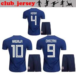 2018 nuovi Japan World Cup kids kit maglia da calcio di qualità tailandese HONDA casa lontano OKAZAKI HASEBE NAGATOMO KAGAWA giappone maglia da calcio bambino cheap quality honda da qualità honda fornitori
