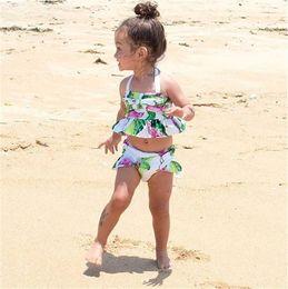 Wholesale Toddler Girls Tankini Swimsuits - Toddler Kid Baby Girl Flamingo Tankini Swimwear Swimsuit Bikini Set Bathing Suit
