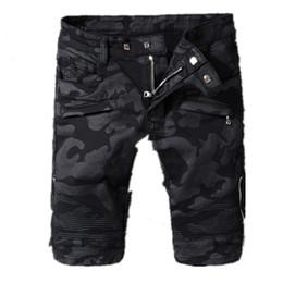 Wholesale mens short jeans trousers - Balmain Free Styles Summer Casual Cotton mens jean shorts Fashion Brand designer retro Men's hole Knee Length denim Shorts jeans trousers