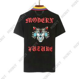 Wholesale modern men shorts - 2018 summer designer luxury brand clothing men polo embroidery blue cat face modern future letter t-shirt casual women tshirt tee shirt