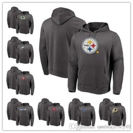 286c603fa Men s Packers Eagles Steelers 49ers Buccaneers Titans Redskins Majestic  Heathered Charcoal Big   Tall Line of Scrimmage Pullover Hoodie
