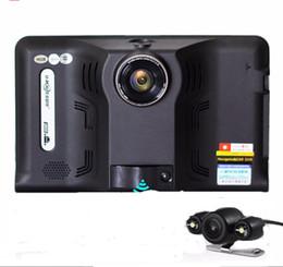"Wholesale car dvr best - BEST 7"" Car dvr gps radar detector Full HD1080P GPS Android auto camera G-Sensor with rear view camera Radar Detector"