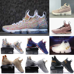 3acde75ab36 2018 New Arrival men XV lebron 15 EQUALITY Black White Basketball Shoes EP  Sports Training Sneakers eur 40-46