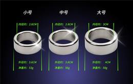 Castidade para homens aço on-line-3 pçs / lote 26 28 30mm glande anéis de pênis anel de galo de aço inoxidável suave dispositivo de castidade masculino manga pênis adultos brinquedos do sexo para o homem