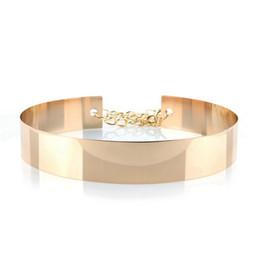 2019 ouro cintos metálicos mulheres 4.5 cm de largura de prata cintos metálicos para as mulheres de Ouro de Metal cinto Feminino com cinto de Vestidos de Casamento da cadeia ouro cintos metálicos mulheres barato