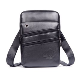 6bf4fe8b54ce 2018 Genuine leather men messenger bags casual High quality business small  shoulder bags for men cross body travel  253-L