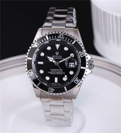 Wholesale Free Dive Watch - Drop shipping New brand watches for men watch automatic dive watch Stainless steel sheet bezel sapphire glass steel Free shipping
