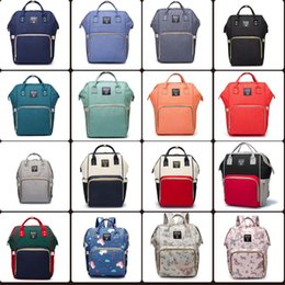 Wholesale diapers backpack - 20 colors Mummy Maternity Nappy Bag Large Capacity Baby Bag Travel Backpack Desiger Nursing Bag for Baby Care Diaper Bags mini order 10 pcs