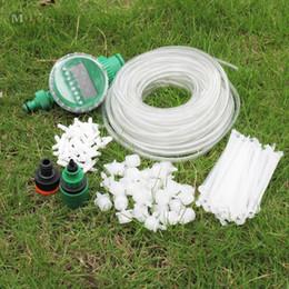 giardino del sistema idrico diy Sconti MUCIAKIE 25M Trasparente o Nero DIY Micro sistema di irrigazione a goccia Impianto automatico di irrigazione Timer Kit tubo da giardino Dripper