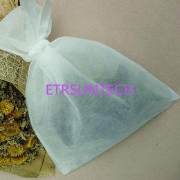 Суконные сумки онлайн-Большой размер вареные мешки 300 X400mm нетканые ткани фильтровальные мешки с галстук ткань завод медицины порошок мешок QW7772