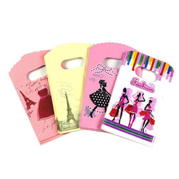 presente chinês do casamento Desconto Novo 200 pc / lote Padrão Aleatório Sacos De Compras Mini Plástico Sacos de Presente Para O Presente de Aniversário Pacote 9x15 cm