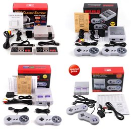 Wholesale Mini Retail - Super Mini Classic Edition SFC Mini TV Handheld Game Console Video For Nes SNES Games with 400 500 660 Games With Engilsh Retail Package