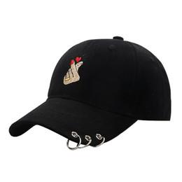 2019 anel ajustável do chapéu Boné Mulheres 2018 Moda Dedo Bordado de Metal Anel De Beisebol Boné de Algodão Ajustável Osso Respirável Chapéus Caminhadas Snapback desconto anel ajustável do chapéu