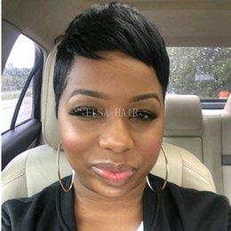 100% Cheveux Humains Court Bob perruques pour les femmes noires pas cher complète machine faite de dentelle brésilienne Pixie Cut Indian ? partir de fabricateur