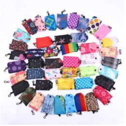 Эко-квадратные сумки онлайн-Карманный квадратный хозяйственная сумка Эко-складные многоразовые портативный плечо сумка полиэстер для путешествий продуктовые сумки MMA954