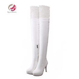 41ee396c71ab elastic wedge knee boots Australia - Original Intention Women Boots Sexy  Thigh High Boots Platform Thin