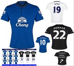 Wholesale Lavender Jersey Dress - New Thai quality players Edition Soccer Jerseys 2018 MIRALLAS NAISMITH SANDRO ROONEY away Home Everton Football Shirt polyester dresses men