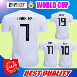 Wholesale National Jerseys - 2018 World Cup National Muller Soccer Jersey Gotze Reus Kroos Draxler Neuer Ozil Hummels Boateng Lahm Home White camisas de Football Shirts