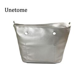 Силиконовая сумка онлайн-PU классический размер внутренняя подкладка карман на молнии вставить интерьер для obag o мешок кремния сумка аксессуары