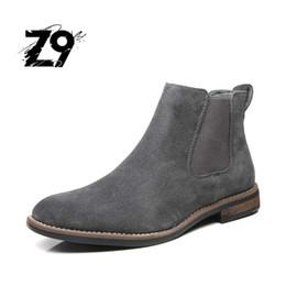 Argentina Z9 NUEVOS zapatos de los hombres del estilo del cuero del ante de la vaca de los hombres del invierno cargadores de la alta calidad cómodo cómodo tamaño del zapato 40-45 Envío libre # E991 supplier winter boots for men style Suministro