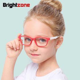 c3fc6cfacb Brightzone 2018 Tr90 Redondo Niños Anti Blue Light Glasses Chica Optical  Glass Glass Gafas Soft Gafas Marco de computadora Juego