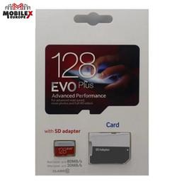 2019 Venda Quente Branco EVO Plus + 64 GB 32 GB 128 GB Cartão TF com Adaptador Livre Pacote de Blister Epacket DHL Frete Grátis de