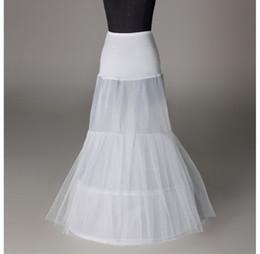 Canada Slip de jupon des femmes de sirène ivoire blanc 1 cerceau tulle pour la mariée robe de mariée stretch dame jupon crinoline soirée complète formelle Offre