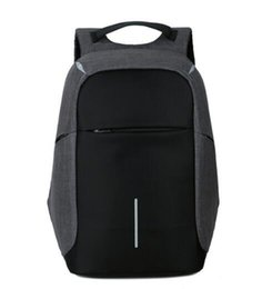 Wholesale Female Computer Bags - Female and men Backpack Anti theft Oxford Casual Laptop Backpack With USB Charge Waterproof Travel Bag Computer Bag Bagpack
