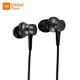 Wholesale Playing Mp4 - Xiaomi Piston In-ear Earphones Fresh Version Five Colors with Micphone Play Pause Control For Mobile Phone MP4 MP3 PC