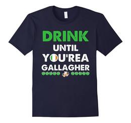 Wholesale Beer Neck - Beer Drink Until Youre a Gallagher St Patricks T-Shirt