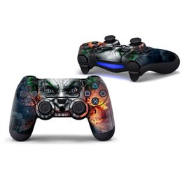 Wholesale Lowered Sticker - Joker Design Lowest Price Decal for PS4 Controller Skin Stickers Protector 2 PCS Controllers Skin Stickers 1 Pair Controller Sticker