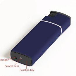 Wholesale Vision Hidden Spy Camera Night - New Night Vision Real Lighter Mini Camera HD 1080p USB Lighter Spy Video Camera Hidden Pocket Mini DVs