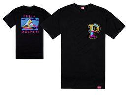 Wholesale purple dolphin - pink dolphin tshirts sail blue sea waves hip hopt-shirt fashion cool rock tees and tops short sleeve summer skate streetwear