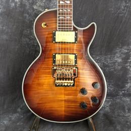Il trasporto libero 2018 vendite del capo di vendite del fornitore chitarra elettrica rosa acero top picture colpo reale Guitars guitarra da