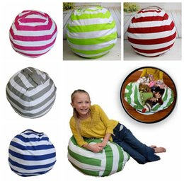 Wholesale Fabric Baby Bedding - 5 Colors 16 inch Storage Bean Bags Beanbag Chair Kids Bedroom Stuffed Animal Organizer Plush Toys Buggy Bags Baby Play Mat CCA9026 50pcs
