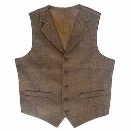 Wholesale Men S Slim Suits Sale - 2017 Tweed Vest Men Notch Lapel Slim fit Vest Groom's Wear mens Wedding Waistcoats Hot Sale Formal Mens Suit Plus Size