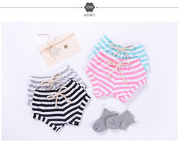 Wholesale Cute Spring Styles - shorts 4 color 2018 INS new arrival baby kids spring summer cute striped printed shorts sweet cotton pants free shipping