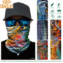 Wholesale fishing scarves - Wholesale- 800 Styles Select 3D Fish Design Outdoor Multifunctional Cycling Scarf Summer 2017 Sport Bike Mask Cap Cycle Racing Accessory