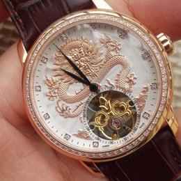 Wholesale Classic Tourbillon - DHL EMS shipping High quality automatic watch classic tourbillon mechanical watches men luxury brand waterproof wristwatches men clock gift