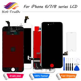 2019 pre lcd screen 1PCS LCD Display Touch Screen For  6 6S 7 8 Screen Pre-assembled Digitizer LCD White Black + Free Tools Tempered Glass дешево pre lcd screen