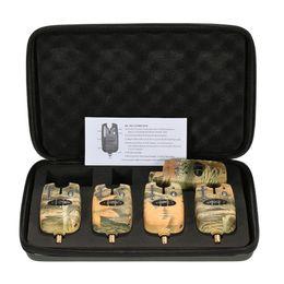 Wholesale Carp Alarms - bite set Lixada Wireless Fishing Alerts Bite Alarm Set 4 1 Swinger Sound Kit Carp Fishing Indicator Light Bell