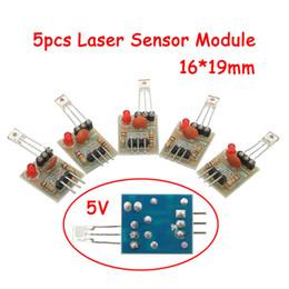 2019 transmisor receptor sensor 5 Unids / set Tablero de Módulo de Sensor no modulador Tubo Para Arduino Receptor Láser Transmisor Útil transmisor receptor sensor baratos