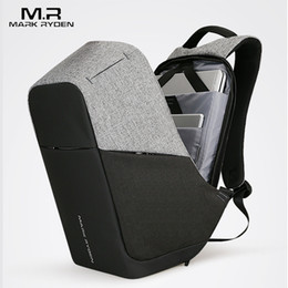 Wholesale Backpack Males - Multifunction USB charging Men 15inch Laptop Backpacks For Teenager Fashion Male Mochila Leisure Travel backpack anti thief