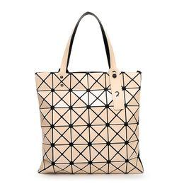 ef159c9668bd Handbag Female Folded Geometric Plaid Bag Fashion Casual Tote BAO BAO Women  Handbag BaoBao Bag Shoulder baobao bags promotion